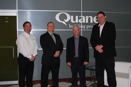 Left to right: Larry Johnson of Quanex, Michael Hovan of Quanex, U.S. Congressman Bill Johnson and George Wilson of Quanex met recently at the company's Cambridge, Ohio, facility.