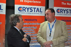 John Daley, Cook County Commissioner (left) with Crystal's Frank Ganninger.
