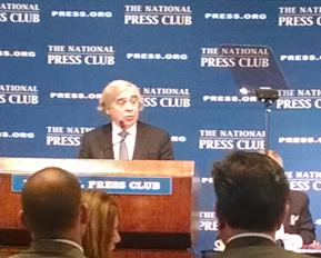 U.S. Department of Energy Secretary Ernest Moniz addressed the National Press Club in Washington, D.C., earlier this week.