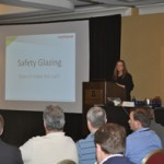 Julia Schimmelpenningh of Eastman Chemical Co. asked attendees at the IGMA Winter Meeting to consider whether safety glazing standards were still up to par.