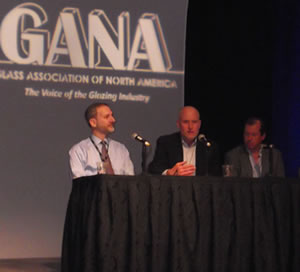 Consultants (from left to right) Stephane Hoffman, John Wheaton and Tony Childress, answered questions during a BEC panel discussion.