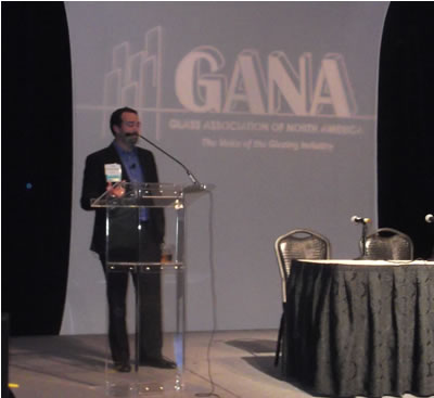 Courtney Little of Ace Glass spoke as both a contract glazier and an attorney; he discussed OSHA and other legal concerns for the industry.