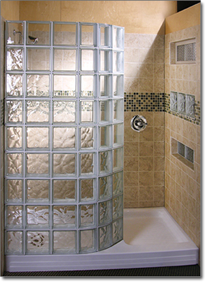 Vienna Glass Co., Inc., of Manassas, Va., completed this doorless glass shower.