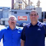 Heritage Glass CEO Chris Cording (left) and president Eric Kerney (right).