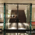 Two 7- x 10-foot walls that form the structural and aesthetic focal points of the storefront were fabricated from eight layers of 3/4-inch thick, low-iron glass supplied by GlasPro.