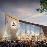 Rendering the new stadium, via Vikings.com