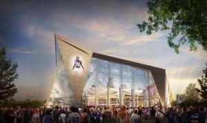 Rendering the new stadium, via Vikings.com