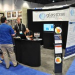 Tyson Oldroyd, project manager at Kimzey Software, talks to GlassBuild attendees about Glasstrax, an enterprise resource planning (ERP) software program for glass businesses.