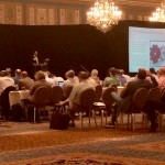 Courtney Little of ACE Glass gives BEC attendees an update Tuesday on legal issues surround the fenestration industry.