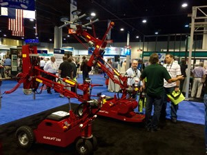 Glass lifters, such as GLG's machines, were a highlight at the show.
