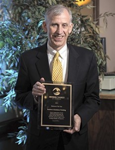 Jim McClatchey accepts the award on behalf of SAF.