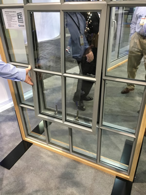 The AIA Show kicked off Thursday. Companies like Graham Architectural Products are showing off their newest offerings, such as this steel replica window--used in historic retrofits to mimic old factory windows.