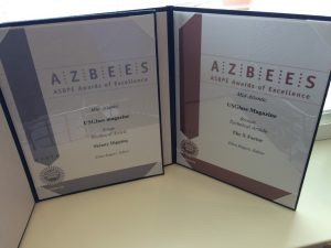 USGlass editor Ellen Rogers won silver and bronze for two articles in the technical article category.