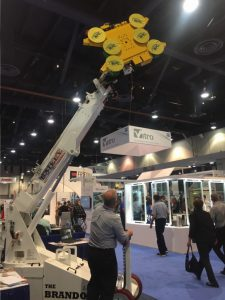 Bailey Specialty Cranes & Aerials, a Milwaukee, Wis.-based company, showed off its Brandon Glass Lifter.