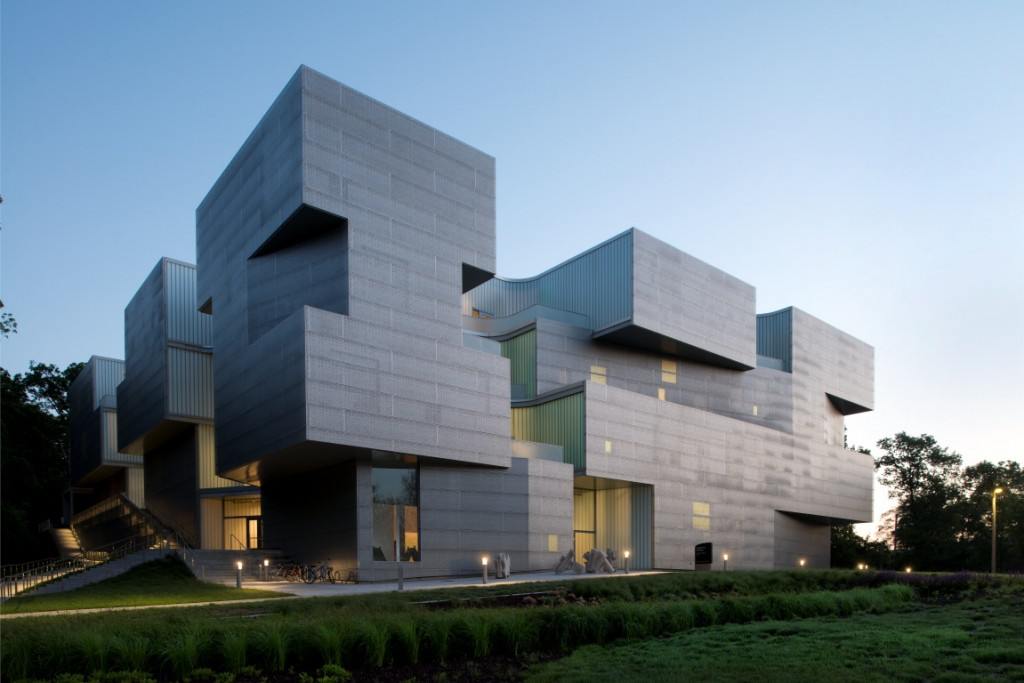 The University Of Iowa Visual Arts Centeru0027s Perforated Stainless Steel  Panels Bring Natural Light Into The Building Through A Series Of Scooped  Setbacks ...